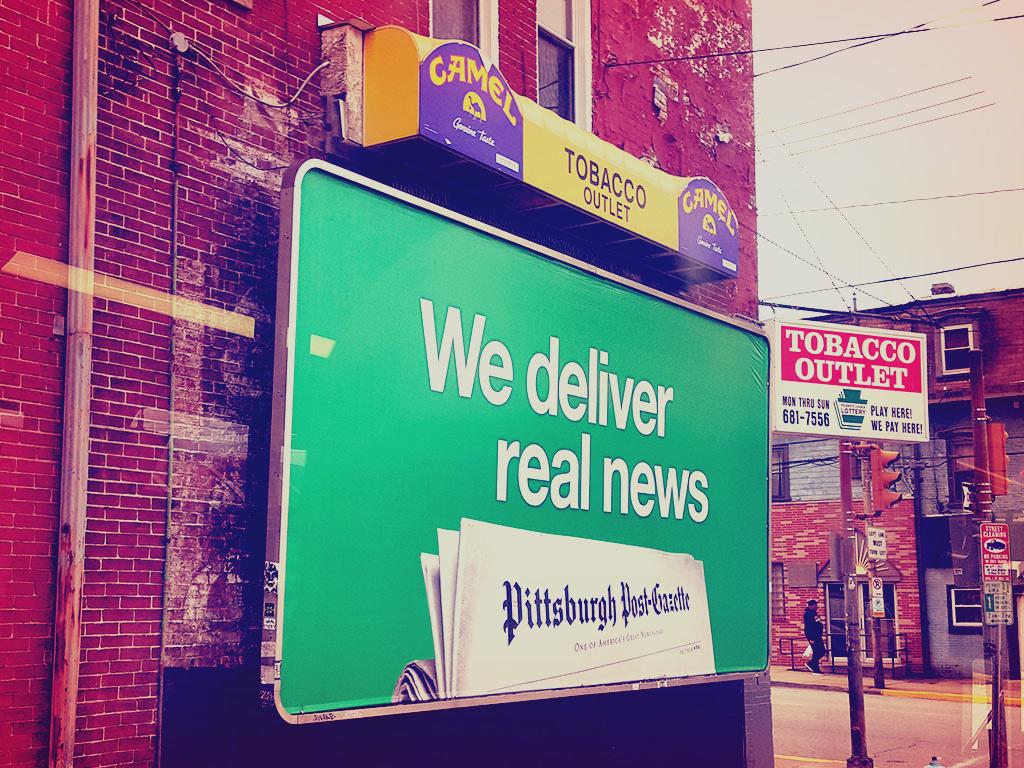 Billboard in Bloomfield, Pittsburgh, PA, 2017