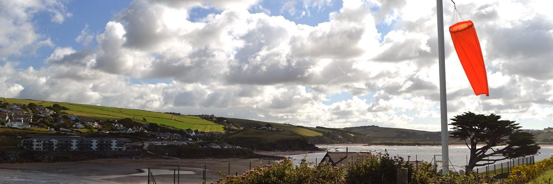 Windsock on Burgh Island. Devon